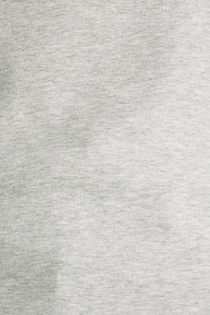 Melange tee with a stand-up collar, LIGHT GREY, detail image number 4