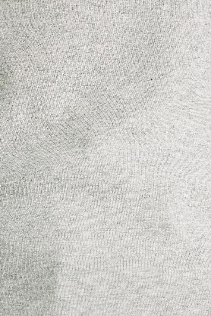 Gemêleerd shirt met opstaande kraag, LIGHT GREY, detail image number 4
