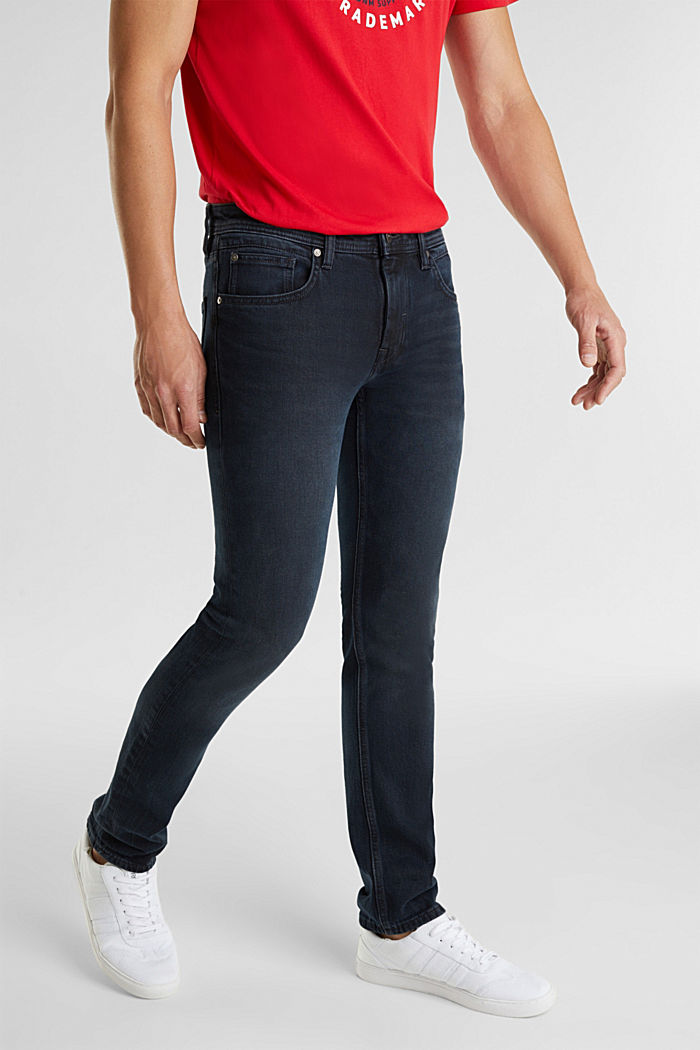Stretchjeans met donkere wassing