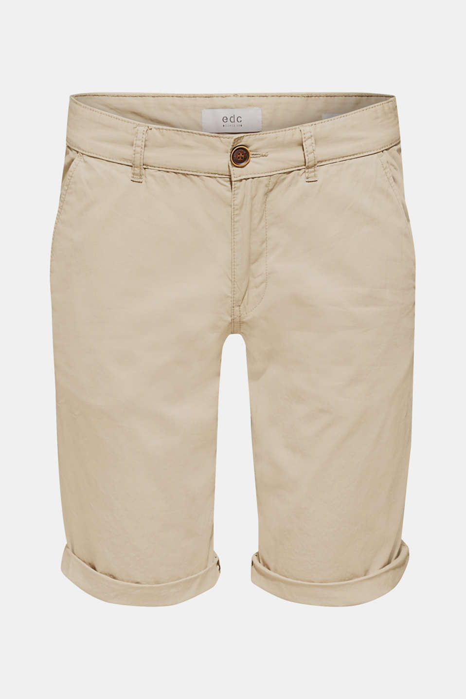 Chino shorts with organic cotton, LIGHT BEIGE, detail image number 5