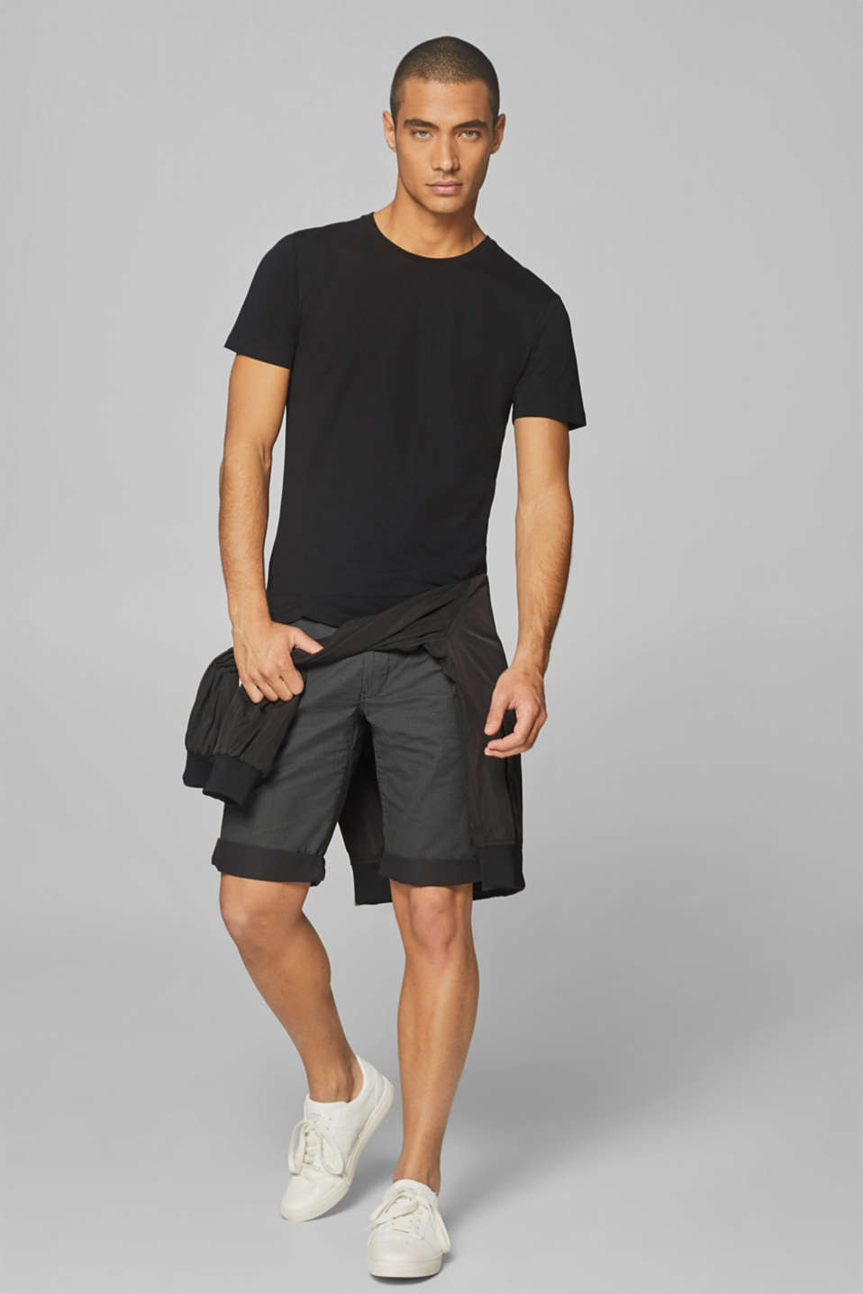 Shorts woven Slim fit, ANTHRACITE, detail image number 6