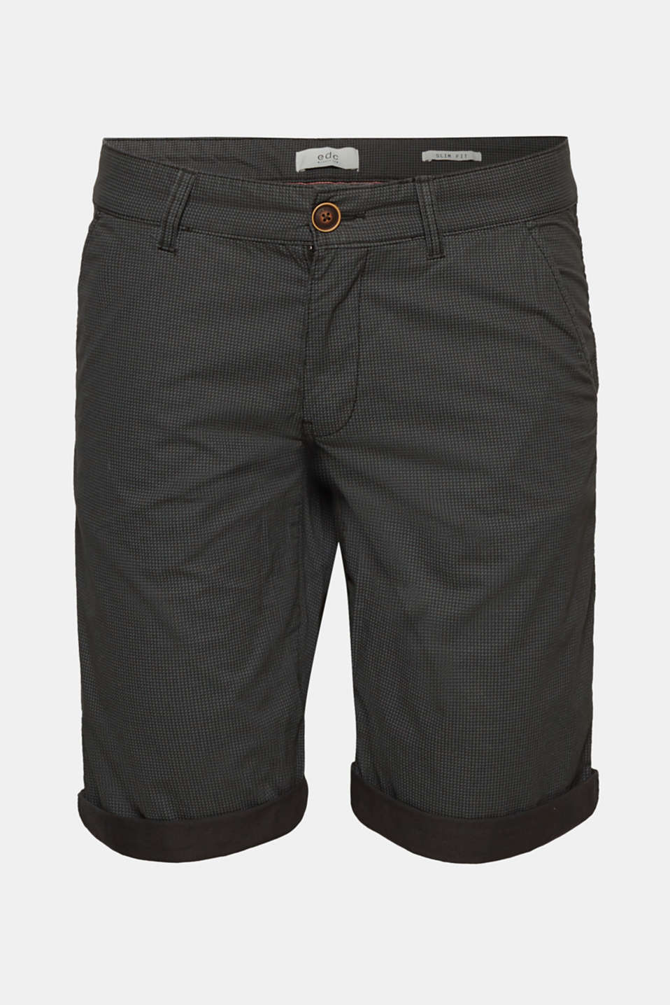 Shorts woven Slim fit, ANTHRACITE, detail image number 7