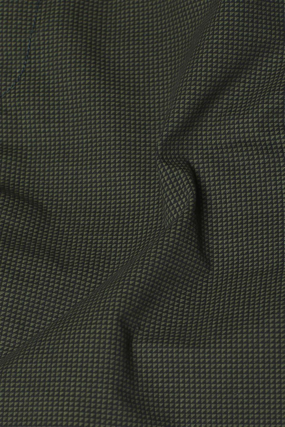 Print shorts in 100% cotton, DARK GREEN, detail image number 4