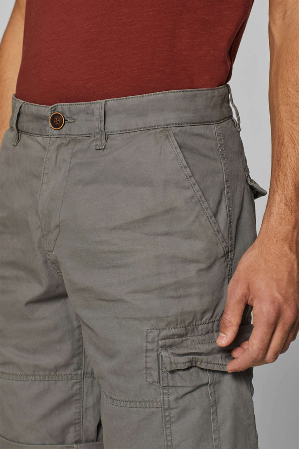 Shorts woven, DARK GREY, detail image number 2