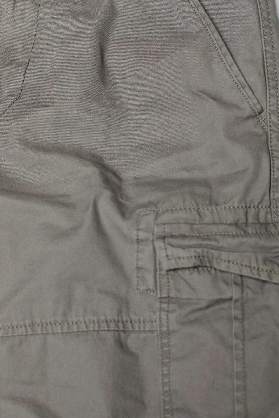 Cargo shorts with organic cotton, 100% cotton, DARK GREY, detail image number 4