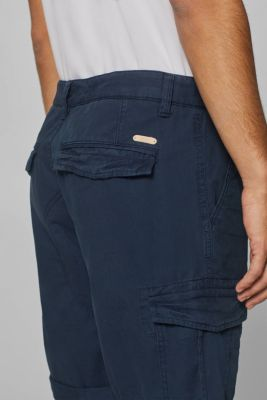 Cargo shorts with organic cotton, 100% cotton, NAVY, detail