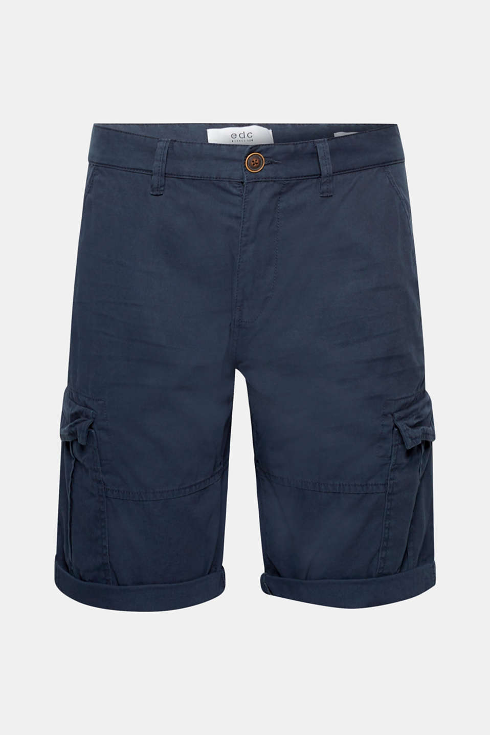 Cargo shorts with organic cotton, 100% cotton, NAVY, detail image number 6