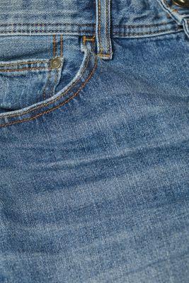 Denim shorts with organic cotton, 100% cotton, BLUE MEDIUM WASH, detail