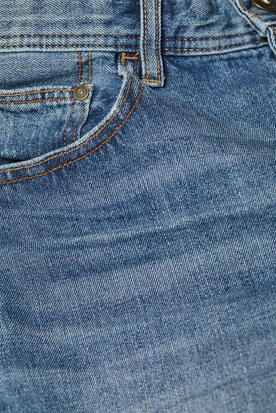 Denim shorts with organic cotton, 100% cotton, BLUE MEDIUM WASH, detail image number 4