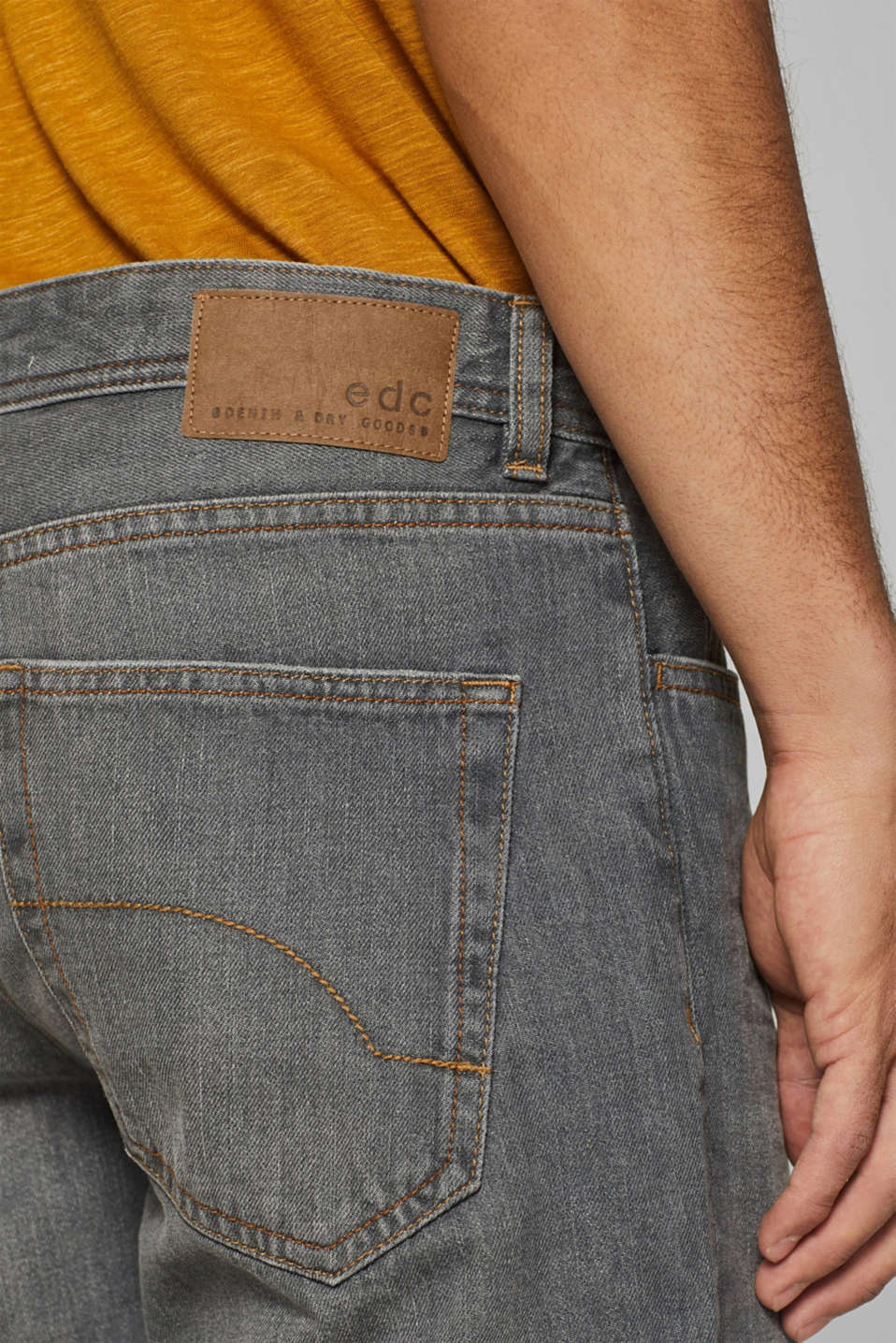 Denim shorts with organic cotton, GREY LIGHT WASH, detail image number 2