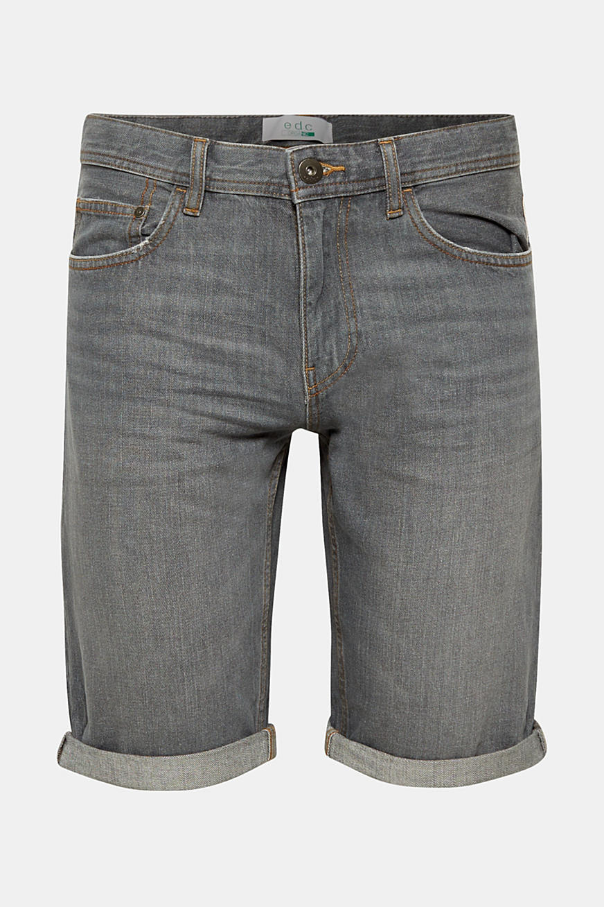 Denim short met organic cotton