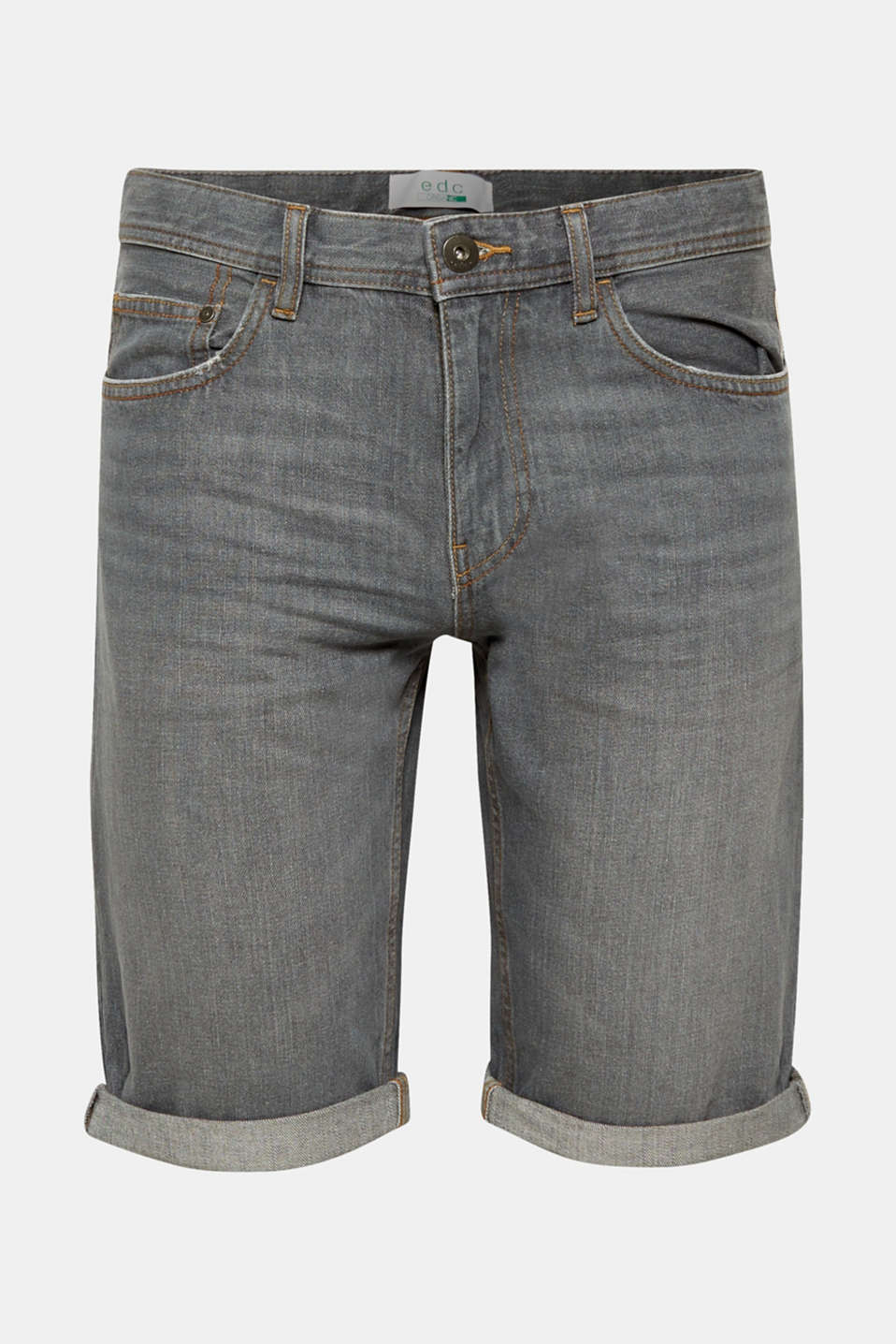 edc - Denim short met organic cotton