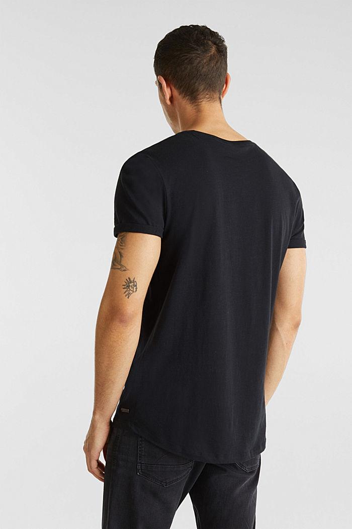 Jersey cotton top, BLACK, detail image number 3