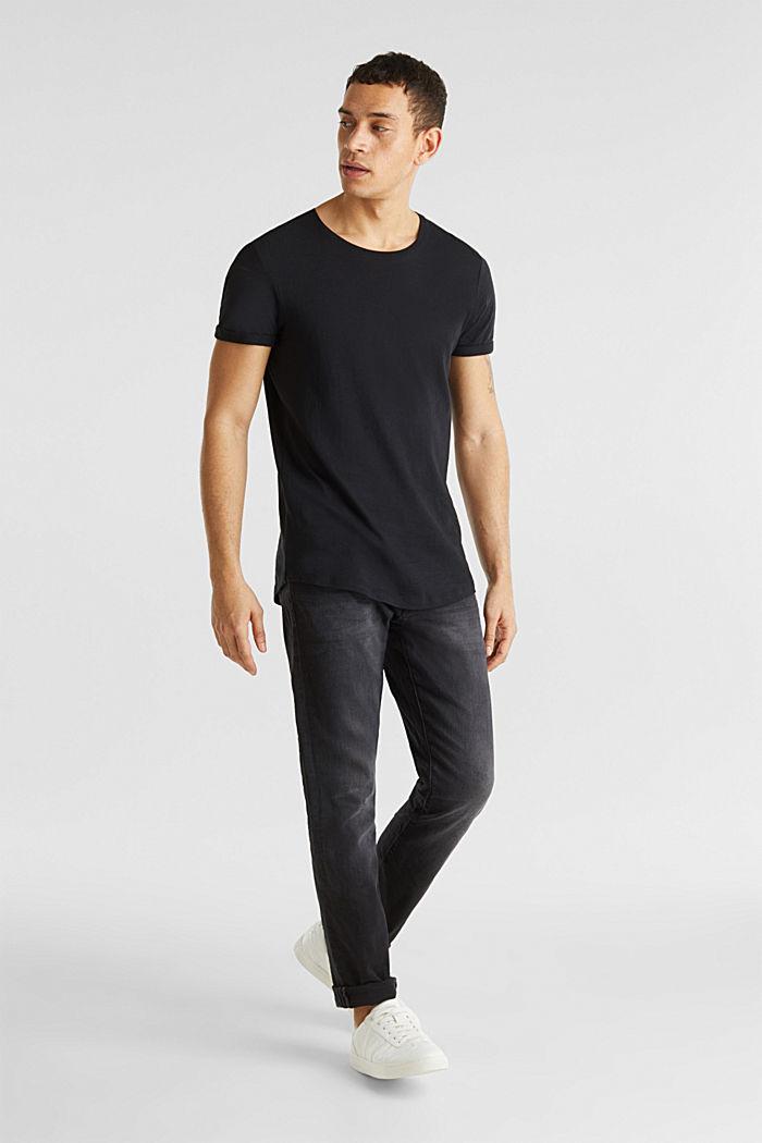 Jersey cotton top, BLACK, detail image number 2