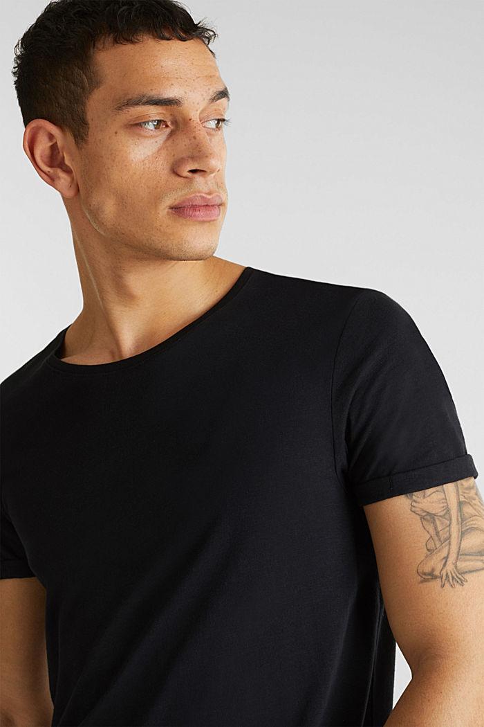 Jersey cotton top, BLACK, detail image number 5