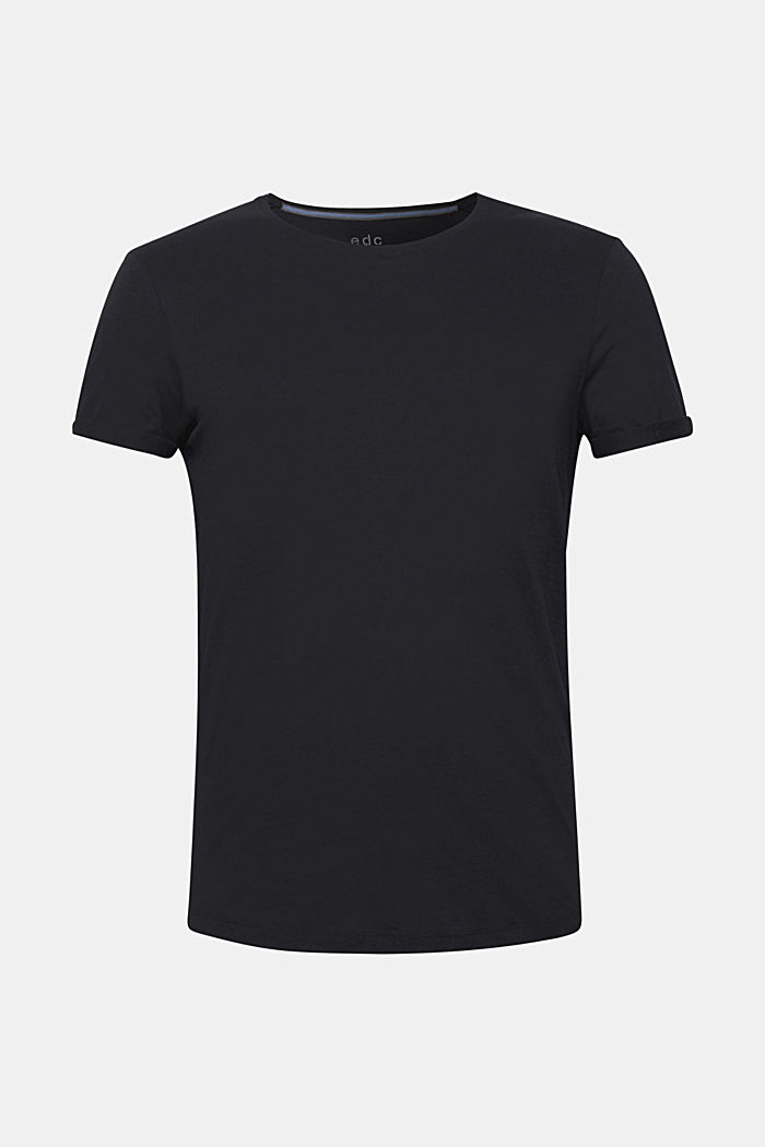 Jersey cotton top, BLACK, detail image number 6