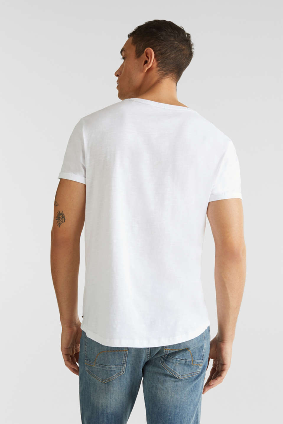 Jersey cotton top, WHITE, detail image number 3