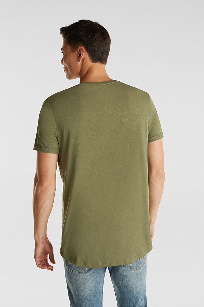 Jersey cotton top, KHAKI GREEN, detail image number 3