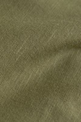 Jersey cotton top, KHAKI GREEN, detail