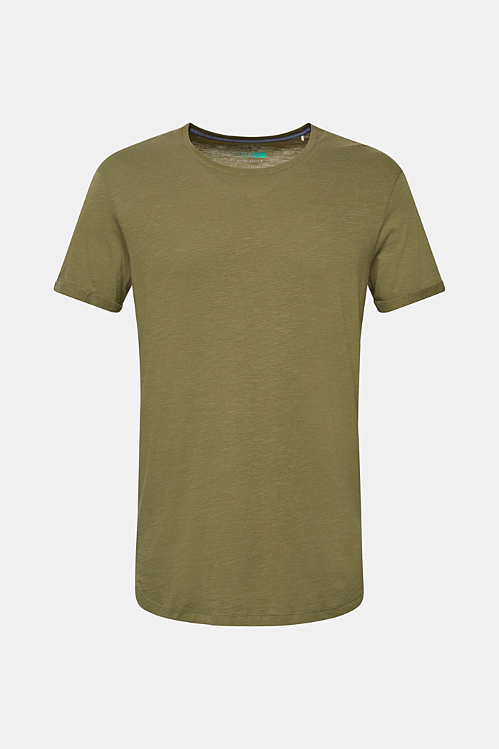 Jersey cotton top, KHAKI GREEN, detail image number 6