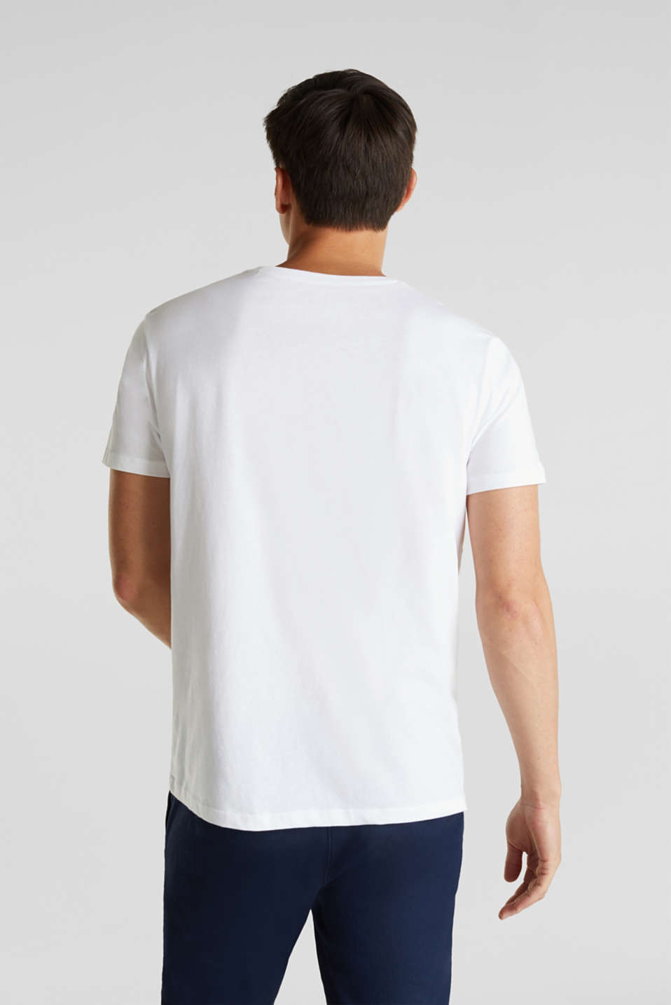 Jersey T-shirt with a print, 100% cotton, WHITE, detail image number 3