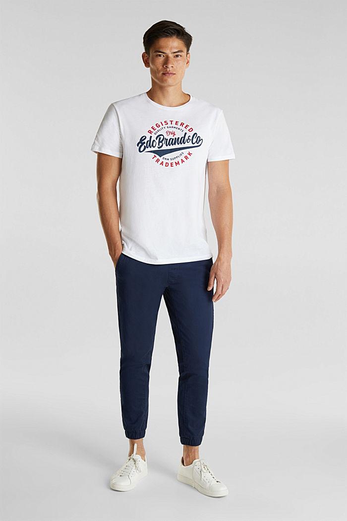 Camiseta de jersey con estampado, 100% algodón, WHITE, detail image number 2