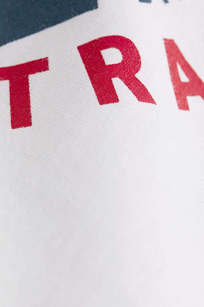 Camiseta de jersey con estampado, 100% algodón, WHITE, detail image number 4