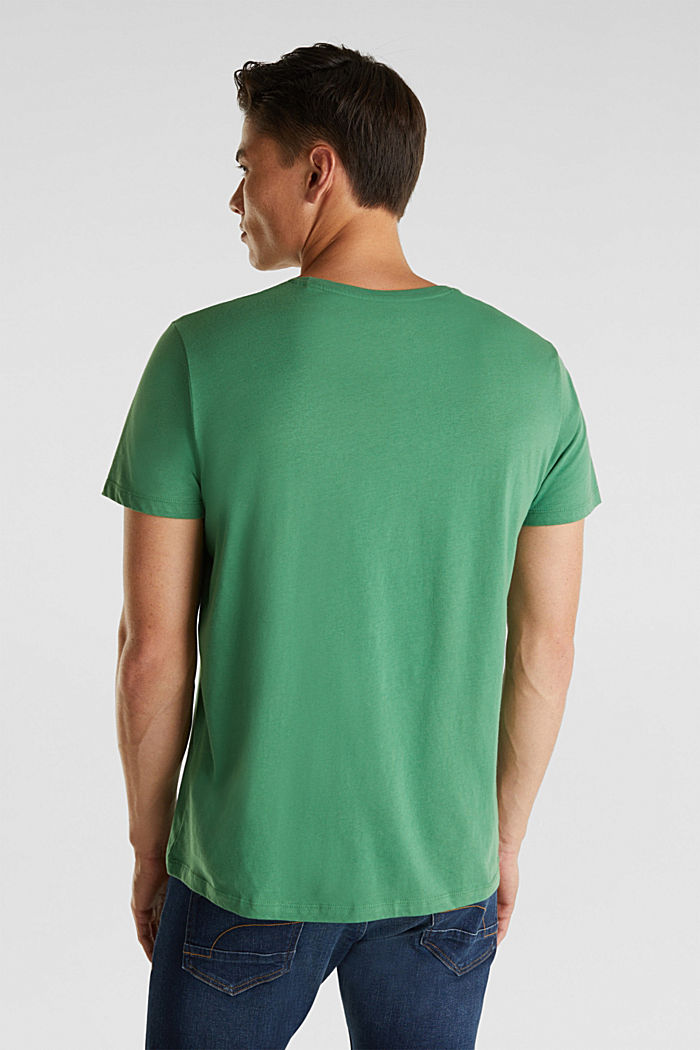 Jersey T-shirt with a print, 100% cotton, GREEN, detail image number 3
