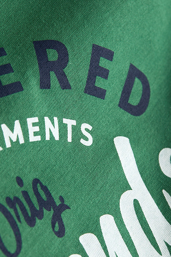 Jersey T-shirt with a print, 100% cotton, GREEN, detail image number 5