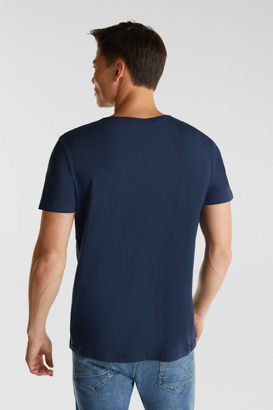 Jersey T-shirt with a print, 100% cotton, NAVY, detail image number 3