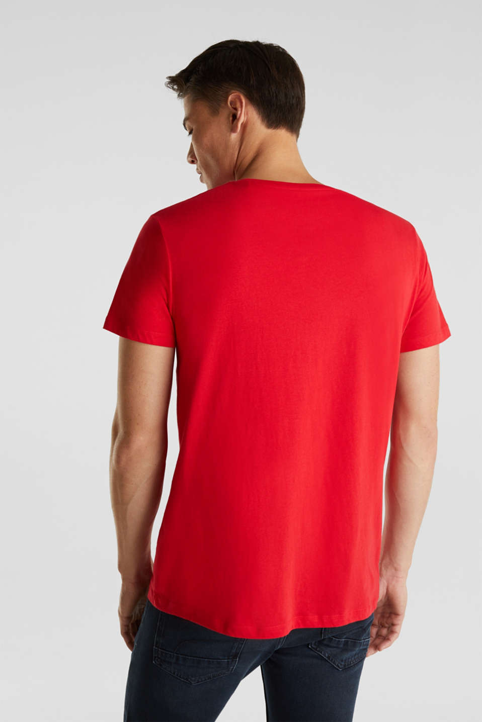 Jersey T-shirt with a print, 100% cotton, RED, detail image number 3