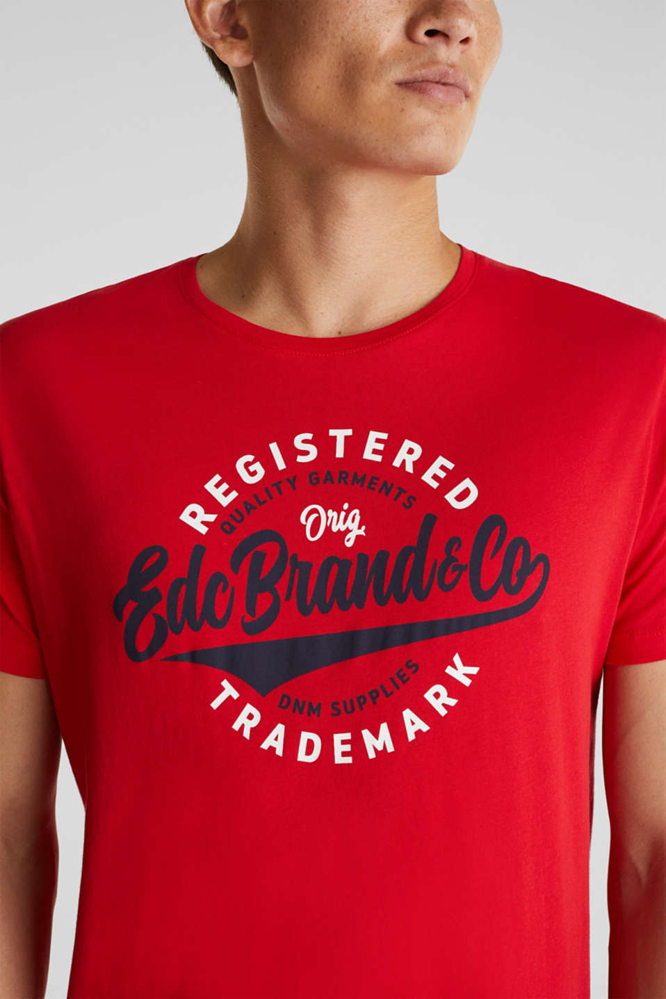 Jersey T-shirt with a print, 100% cotton, RED, detail image number 1