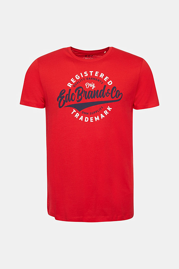 Jersey T-shirt with a print, 100% cotton, RED, detail image number 6