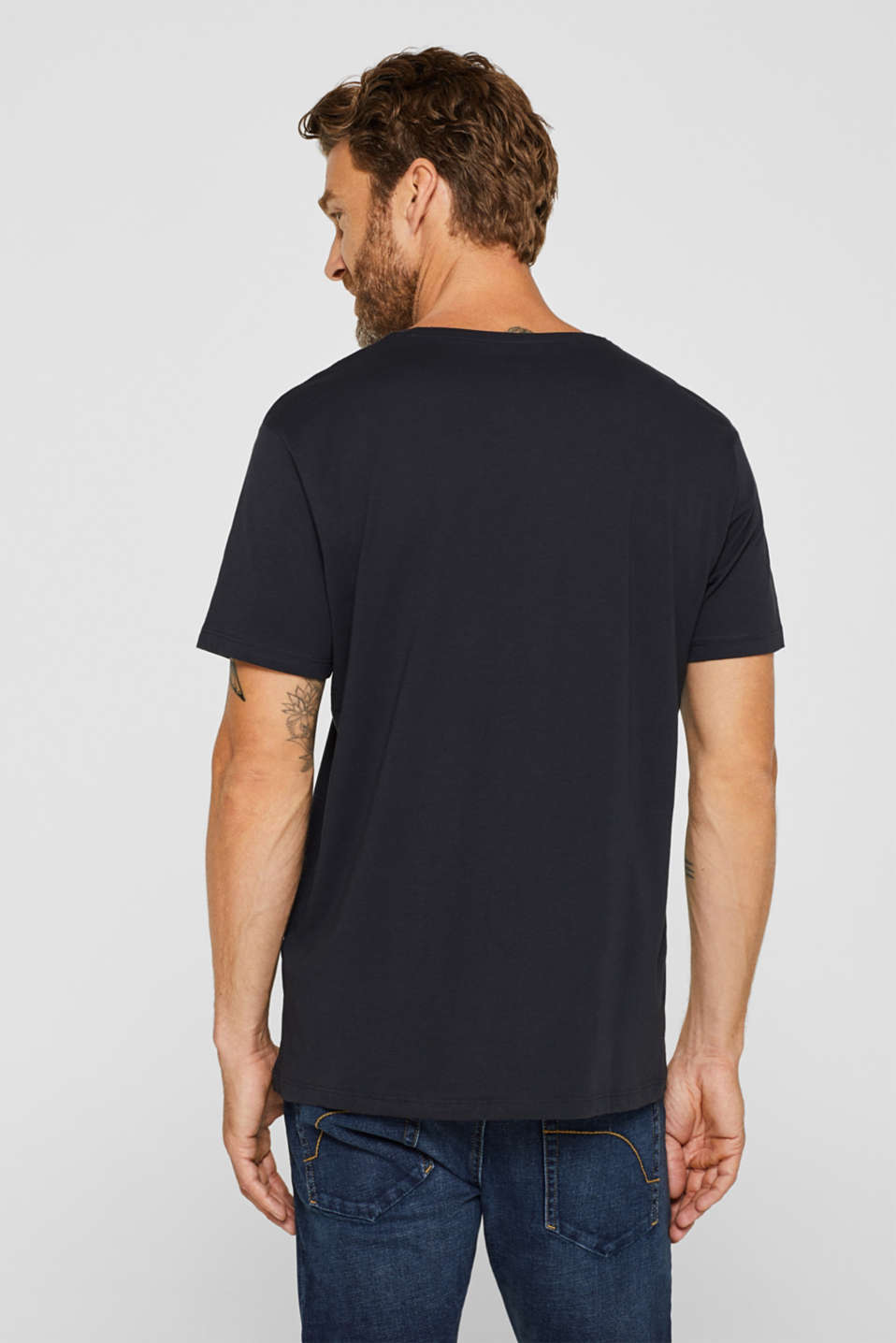 Jersey T-shirt with a print, 100% cotton, BLACK, detail image number 3
