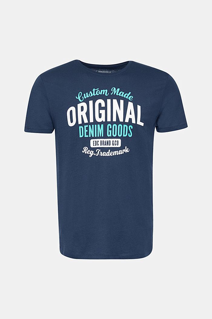 Jersey shirt met print, 100% katoen