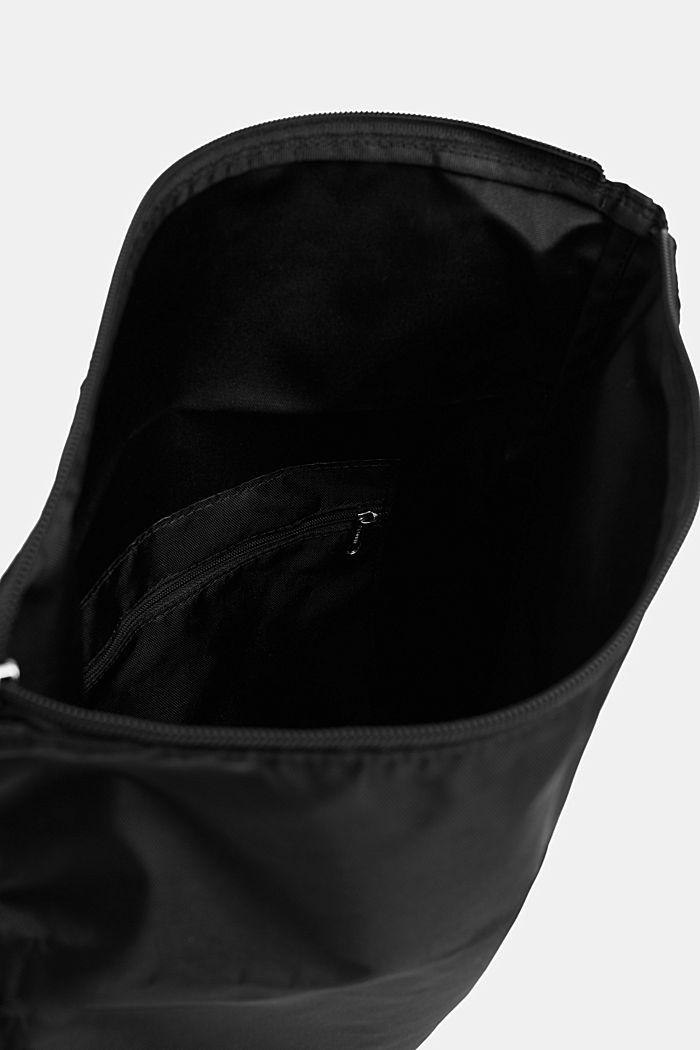 Schoudertas met logo, van nylon, BLACK, detail image number 3