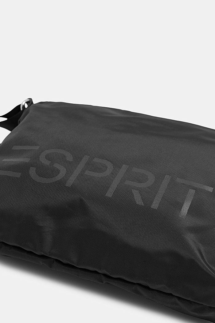 Schoudertas met logo, van nylon, BLACK, detail image number 2