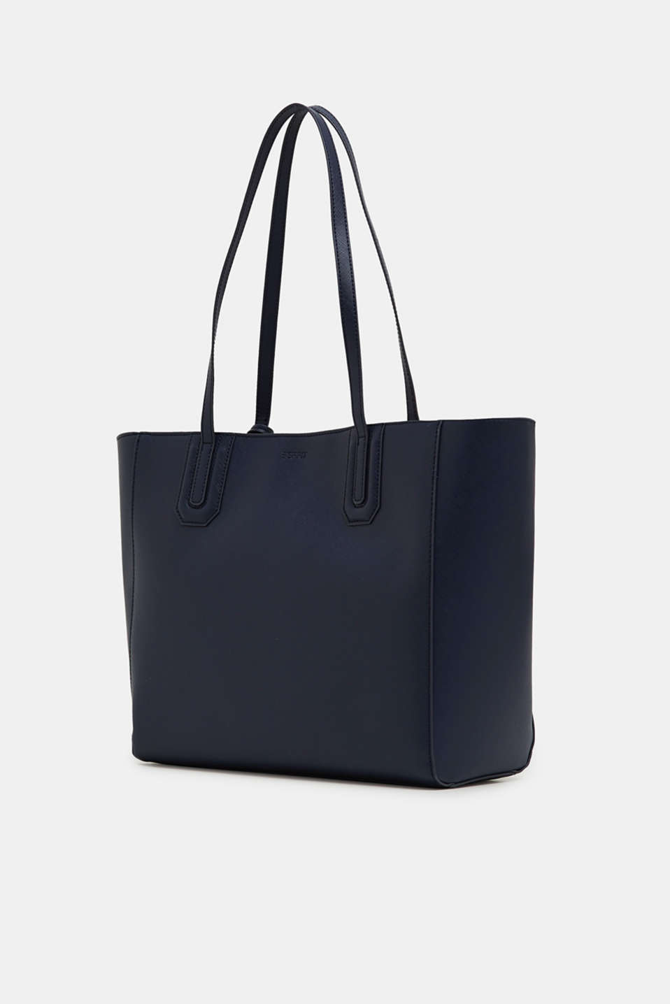 Shopper in a saffiano look, NAVY, detail image number 2