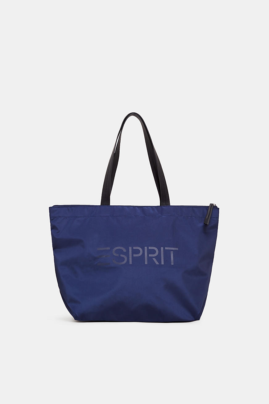 Nylon shopper met logoprint