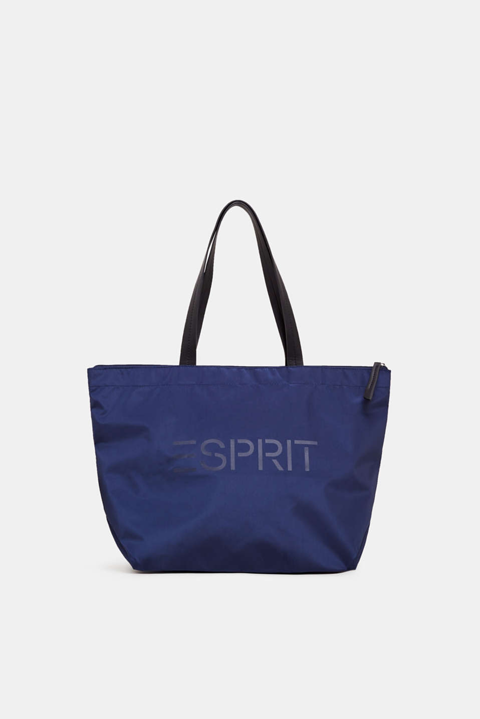 Nylon shopper with a logo print, NAVY, detail image number 0