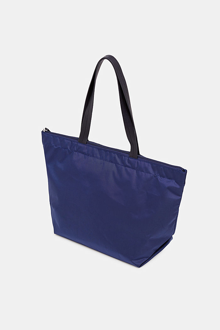 Nylon-Shopper mit Logo-Print, NAVY, detail image number 4