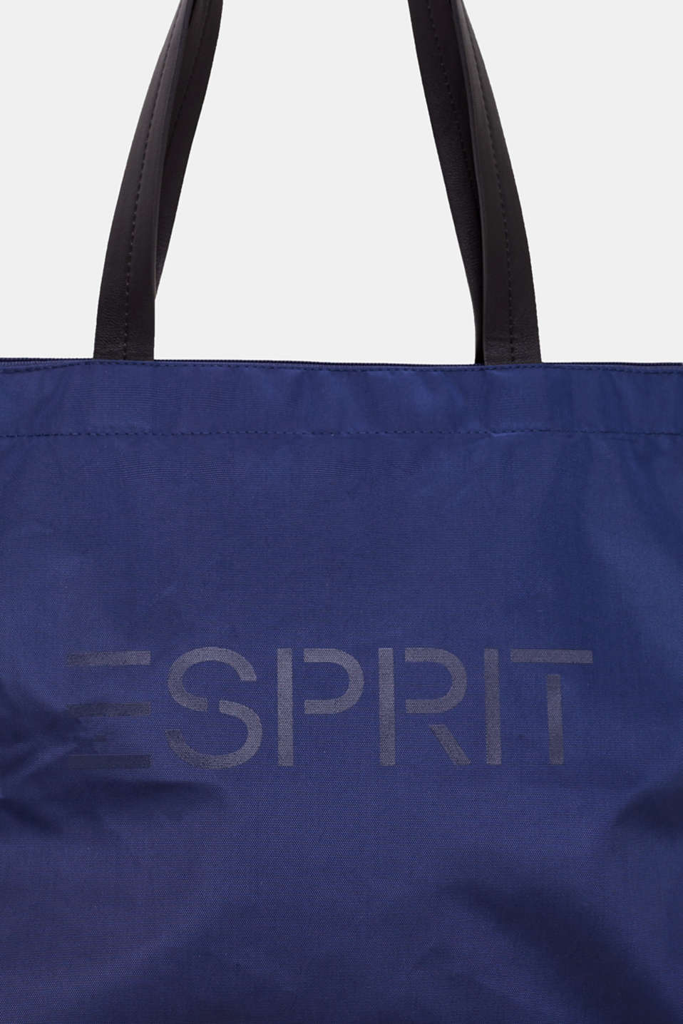 Nylon shopper with a logo print, NAVY, detail image number 3
