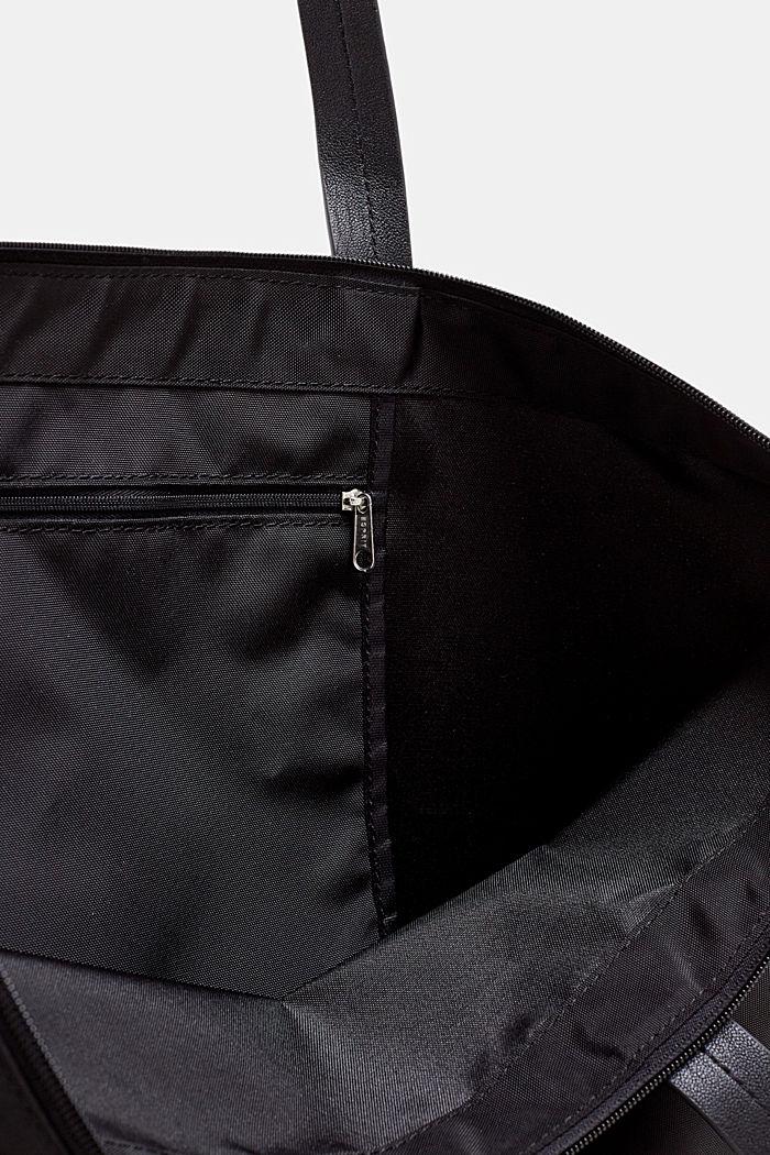 Nailonista valmistettu tote-laukku, BLACK, detail image number 3