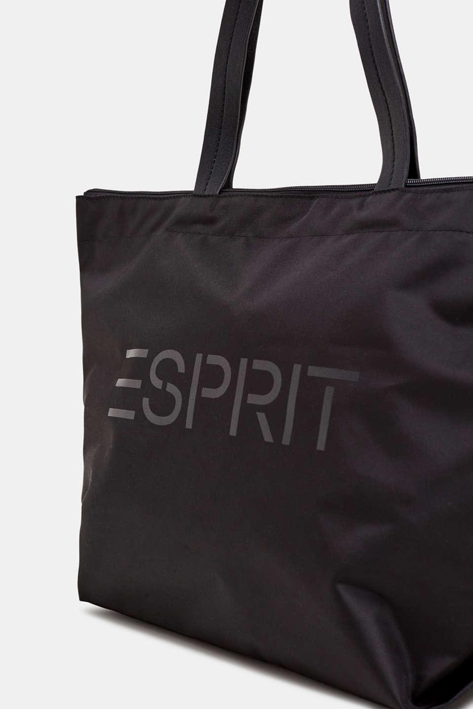 Nylon tote bag, BLACK, detail image number 2