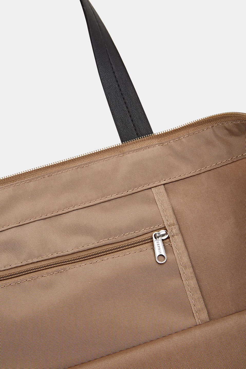 Nylon tote bag, BEIGE, detail image number 3
