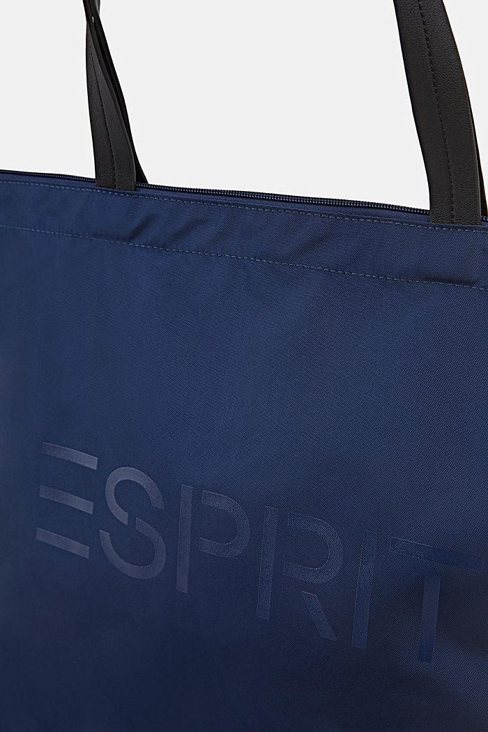 Tote bag van nylon, NAVY, detail image number 2