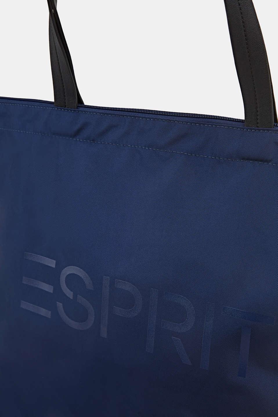Nylon tote bag, NAVY, detail image number 3