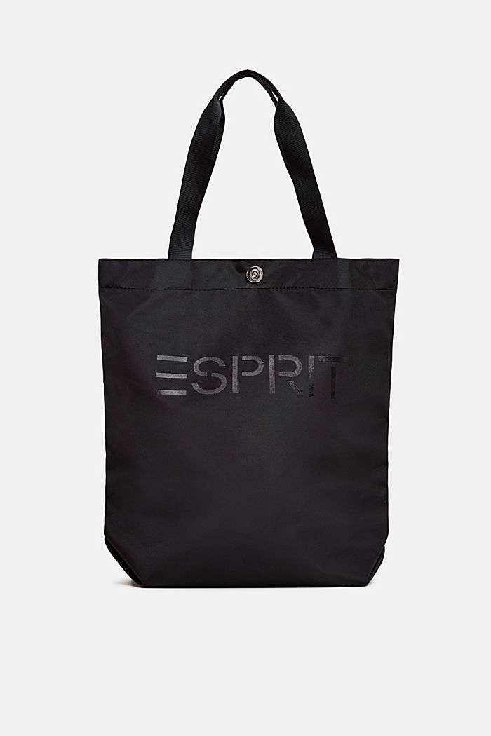 Nylon shopper with a tonal logo