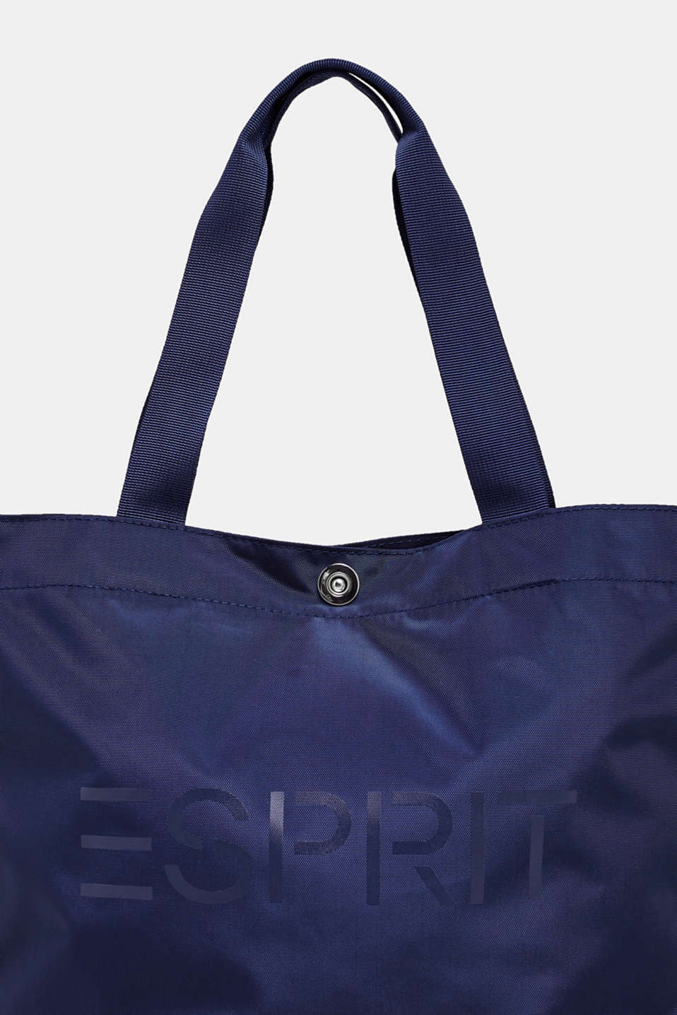 Vertical nylon shopper with a logo print, NAVY, detail image number 3