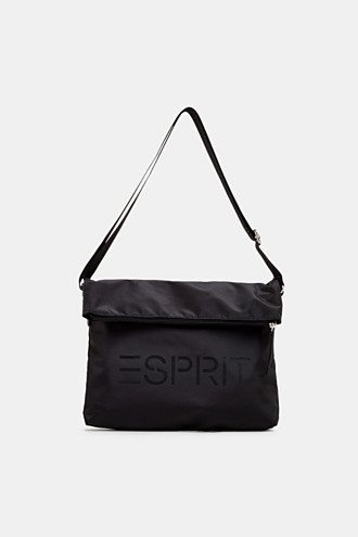 Nylon bag with a logo and adjustable clasp